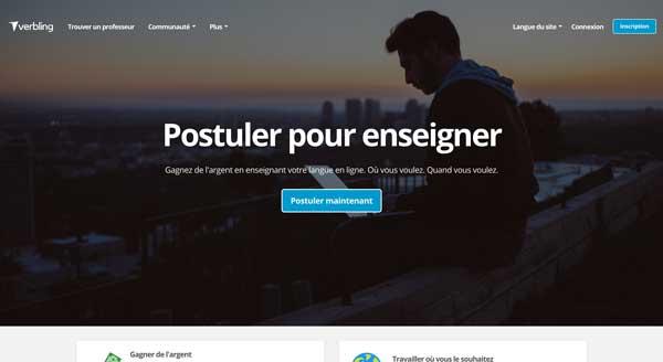 verbling marketplace langue