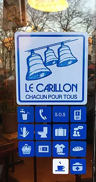 Stickers vitrine Le Carillon