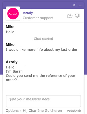 Zendesk Chat for marketplace