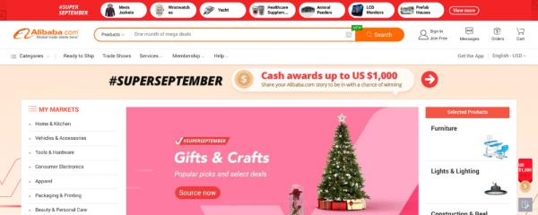 Alibaba B2B marketplace
