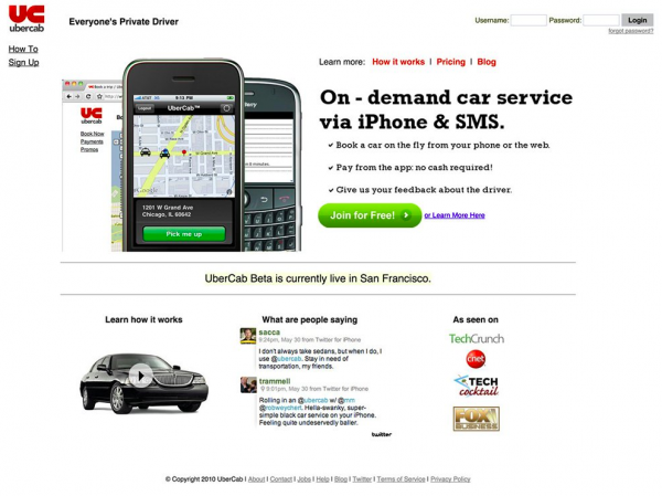 Wayback machine uber
