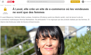 Article Ouest France 24 novembre 2020