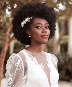 5 idées de coiffure de mariage pour cheveux afro